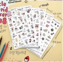 charm sticker 2014 hot sell Korea stationery cute cartoon my kids Little Red Riding Hood decorative stickers nice gift C115(China (Mainland))