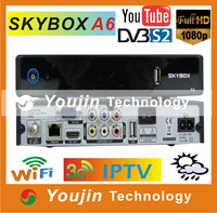 SKYBOX A6 Full HD Sunplus1506 free to air satellite decoders digital satellite receiver iptv 3G set top box 3g 1080p hot sell