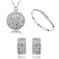 2014 new design cheap crystal jewelry set for women