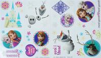 Free shipping frozen doll elsa waterproof tattoo sticker (elsa anna olfa hans)