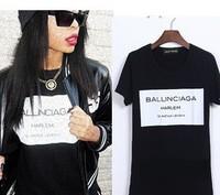 Add to Favorite Items Summer 2014  new Ballinciaga Black T-shirt men 's short sleeve t -shirt Harlem tee men BLACK WHITE