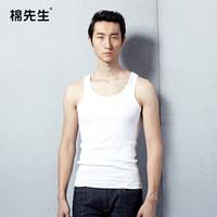 Male vest male vest pure cotton spring and autumn basic vest 100% basic shirt male cotton