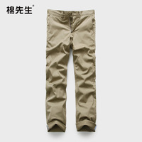 Spring male slim casual pants tencel cotton casual trousers thin straight trousers male