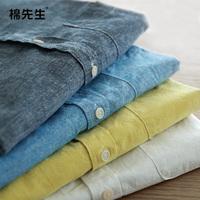 Linen shirt 2014 spring male fluid shirt long-sleeve shirt male s6738