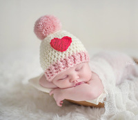 Handmade Candy Miss Baby Girl Hats Caps Beanies With POM POM. Newborn Photography Props Crochet Pattern