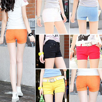Women's  Candy color Pencil short Pant/Hot Pant KZ035