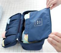 Spring 2014 7Colors Large Solid Women Travel Luggage Bags Beauty Case Luggage Cover Underwear Bra Waterproof Duffel Zipper Bag