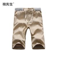 2014 summer male linen capris linen casual pants capris fluid linen trousers
