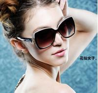Free Shipping 2014 Fashion Frog Mirror Sunglasses Aviator glasses Vintage Eyeglasses glasses Women Polarized Sunglasses7 COLORS