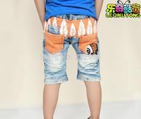 Children's jeans wholesale manufacturers summer children boy pants thin denim shorts Lucky child children denim short
