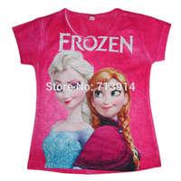 spring summer 2014 cartoon Frozen,pepa,monster hight girls 3d t-shirt kids girl tees tshirt clothing baby clothes tops kids wear