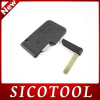 Free shipping key card Renault Megane smart card 3 button with key blade 433Mhz ID46 chip