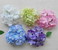 6C available DIA 11cm artificial small hydrangea flower head diy wedding bouquet flowers head wreath garland home decoration