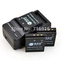 DSTE 3pcs 1900mAh BP-DC8 BPDC8 DC8 Li-on Battery + DC29 Charger For LEICA X1 X2