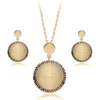 2014 new design semi-precious stone pearl jewelry set for women