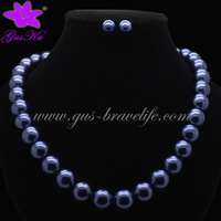 2014 Gus-FPN-035 Free shipping 12mm Fashion pearl necklace