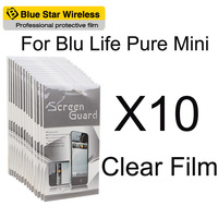 For BLU Life Pure Mini High Quality 10 pcs/lot Clear Screen Protector Film For BLU Life Pure Mini Screen Protector Free Shipping