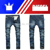 Free Shipping retail(1piece) fashion 2014 high quality Nostalgic retro beggar hole cotton DI brand men's jeans size:28-38Y,8811#