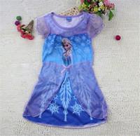2014 New Frozen Doll Princess Elas Kids Dress  ( 110cm-140cm )