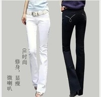2014 Black and White spring slim female jeans women trousers  high-end atmosphere of cultivate  jeans