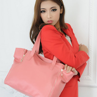 2014 New Style Top grade PU fashion women handbag Zipper Personality woman shoulder bag 3 colors women bag JIMEI-00788