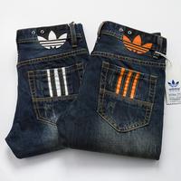 Free Shipping retail(1piece) fashion 2014 high quality Nostalgic retro beggar hole cotton DI brand men's jeans size:28-38Y,777#