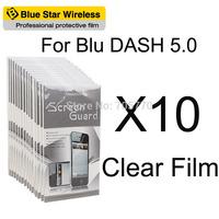 For BLU Dash 5.0 High Quality 10 pcs/lot Clear Screen Protector Film For BLU Dash 5.0 Screen Protector Free Shipping