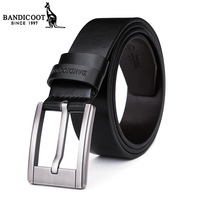 Kangaroo male strap genuine leather belt casual pin buckle fashion pure cowhide waist belt
