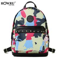 2014 Camouflage backpack travel bag preppy style backpack trend women's handbag parent-child bags