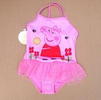 Free Shipping NEW 2014 pink pig  one-piece girls swimwear triangular/girls bathing suits one piece swimsuits  118