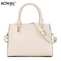 Howru 2014 fashionable casual sewing thread one shoulder cross-body handbag
