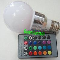 Remote Control 3w E27 Colorful LED RGB Bulb Light LED Bulb Ligthing