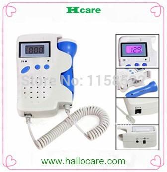 Pocket Fetal Doppler fetal heart detector FDA/CE 3Mhz & 2.5Mhz doctor or nurse use doppler(China (Mainland))
