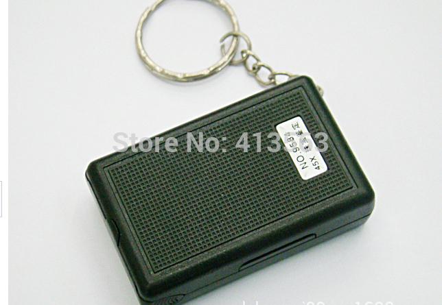 Free shipping 1pcs Black Microscope fold eye Jewelry Loupe Pull Type Jewelry Magnifier with LED Light