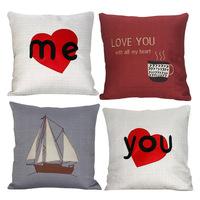 fashion cushion covers for sofa car chair seat back decorate throw  pillows cover home Textiles Sailing heart-shaped coffee #A09