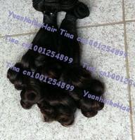 Hot sale 6a quality 3pcs/lot #1b tip romance curl virgin peruvian original aunty funmi human hair free shipping