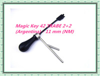 free shipping  2014 new product  2 in 1 picks decoders Magic Key 42 TRABE 2+2 (Argentina) - 11 mm (NM)  car auto locksmith tools