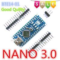 Free Shipping  1PCS Nano 3.0 ATmega328P-AU Mini-USB Board BTE14-01  no USB cable  hot sale