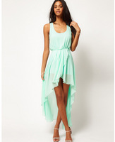 CHEAPEST!!!2014 Ladies Long Winter Chiffon Sexy Dress Warm Fashion Maxi Mint Green Summer Dress Casual Brand Dresses