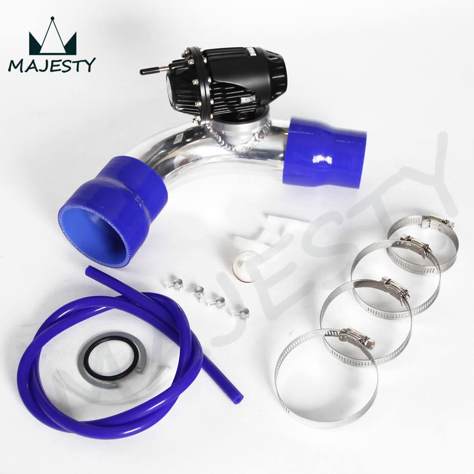 black SQV Blow Off Valve BOV IV 4 kit TURBO PIPE kit for HYUNDAI GENESIS COUPE 2.0T blue reducer Hose+blue vacuum hose(China (Mainland))