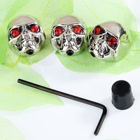 5set* 3pcs Skull Head Volume Control Knobs  for Electric Guitar  chrome