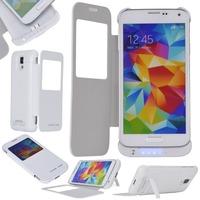 3200mAh External Battery Charger View Case for Samsung Galaxy S5 i9600 DA1030 2x