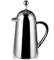 Hotel home office bar 5persons stainless steel double walls 800ml french press coffee pot