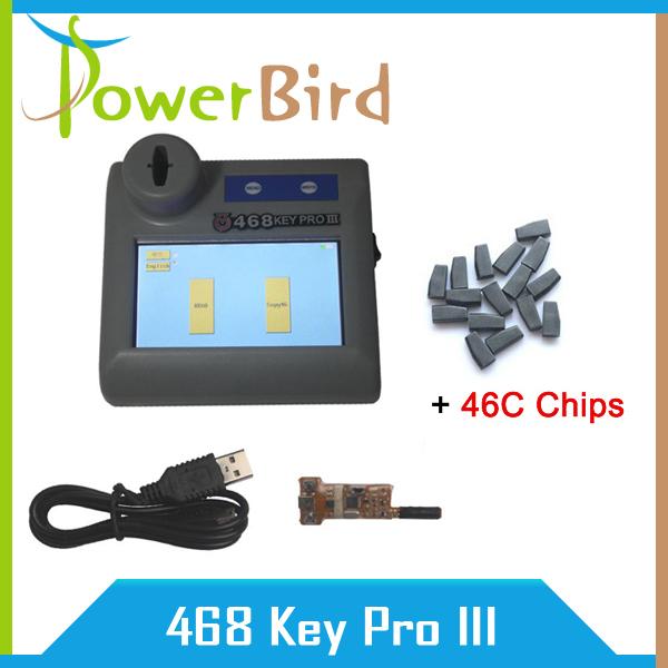 Best price 468 KEY PRO Third Generation ID46 Copy Key Programmer 468 key pro3 III With 10pcs 46C chips(China (Mainland))