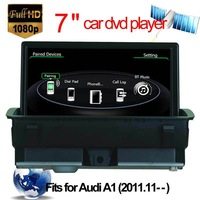car audio for audi A1 car dvd player steering-wheel control Bluetooth with IPOD USB SD GPS navigation
