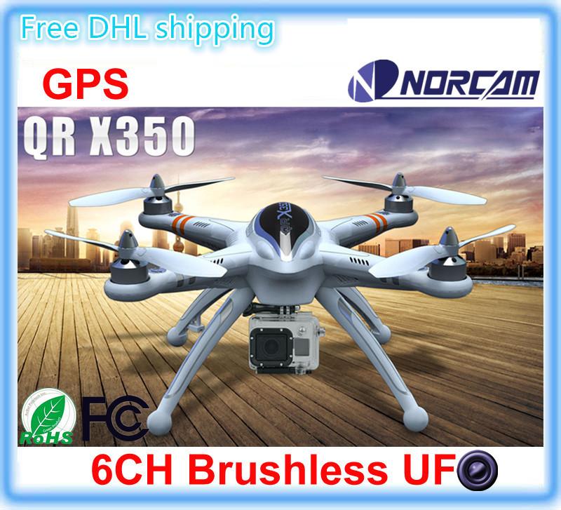 WALKERA QR X350 GPS Drone 6CH Brushless UFO with camera DEVO 7 F7 Transmitter RC Helicopter RTF BNF DJI phantom 2 vision plus(China (Mainland))