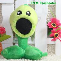 Wholesale/retail Free Shipping Plants Vs Zombies Peashooter Plants Plush Teddy Toys Dolls 17cm