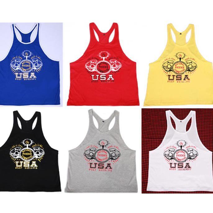 Cavar fundo musculares Regatas E0898 para Fitness e Bodybuilding 100% algodão Men Professional treinos esportes vender colete quente(China (Mainland))