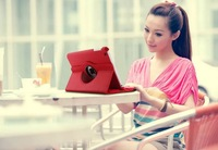 Luxury Rotating Magnetic Leather Stand Case For IPAD2 IPAD3 IPAD4 Cover Tablets & PDAs Accessories  Free Shipping