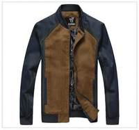 free shipping Hot Sale 2014 Fall Fashion Men's Faux Leather Jacket Men's Casual Wear High quality 65